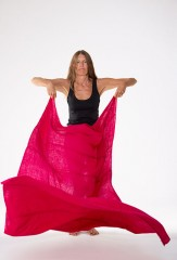 AMAZIGH SHAMINA IN HOT PINK 100% CASHMERE, YARN DYED, HAND EMBROIDERED