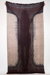 Bleeding Stripe Shawl in Brown, Fur Brown, & Blackberry
