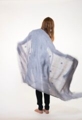 Linen Chiapas Shawl in Chambray