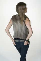 Cowgirl Vest in Demi Buff Sheared Mink