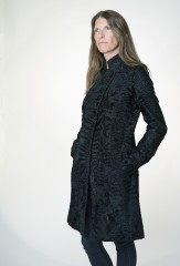 Officer's Dress Coat in Black Swakara