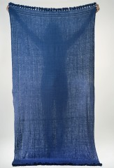 Dera Shawl in Denim with Denim Embroidery