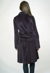 The Lucifer Coat in Blackberry Sheared Mink