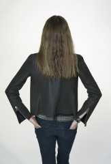 Reversible Biker Jacket in Ebony Sheared Mink