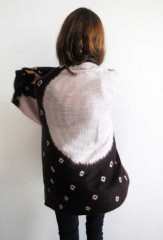 Shaded Margherita Shawl in Blackberry, Carrara & Ivory