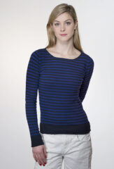 Garza Striped Boatneck in Pirate & Tuareg