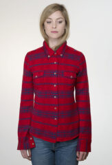 Plaid Range Shirt in Lipstick, Poppy & Mahler