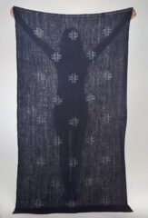 "Reverse ""Plus"" Float Shawl in Navy & Ivory"