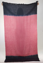 Color Block Shawl in Antique Rose & Dark Navy