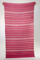 All Over Banded Herringbone Wool Shawl in Antique Rose & Ivory