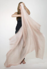 Margherita Kalagai Throw in Blush & Ivory