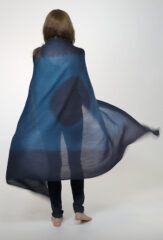 Shaded Sunspot Kalagai Throw in Dark Navy & Ocean