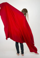 Shaded Throw in Red & Coral