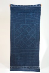 Wool Wanka Khana Shawl in Blue & Aqua