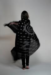 Margherita Kalagai Throw in Black & Ivory