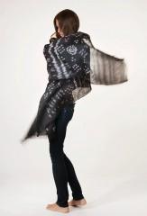 Linen Wanka Khana Pareo in Fur Brown & Ivory