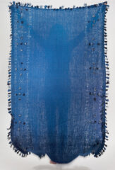 WAFQA SHAWL IN WOAD WITH IVORY & BLUES