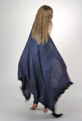 SGUGU SHAWL IN BLUES & BLACK