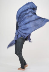 GRACE SHAWL IN NIGHT SKY & PERIWINKLE