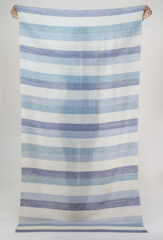Striped Kani Shamina in Delft Blue, Pale Teal, Seal Brown & Ivory