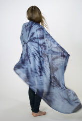LINEN SHOCKWAVE  SHAWL IN BLUES