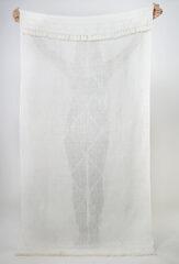 LINEN SGUGU SHAWL IN WHITE