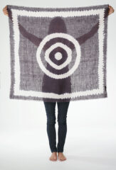 RINGS OF SATURN KALAGAI BANDANA IN FUR BROWN & IVORY