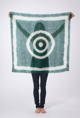 RINGS OF SATURN KALAGAI BANDANA IN EMERALD & IVORY