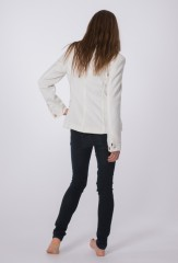 Cashmere 3 Pocket Jacket in Ivory