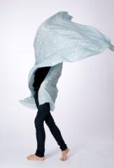 PAISLEY SHAMINA IN SKY BLUE & IVORY