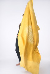 WOOL SHADED MARGHERITA SHAWL IN LEMON, RIND & IVORY