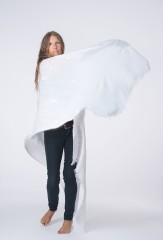 LINEN CHIAPAS SHAWL IN WHITE