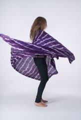 TIGER KALAGAI THROW IN VIOLET C & IVORY