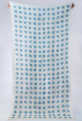 BLOSSOM SHAMINA IN IVORY &  ROMAN GLASS BLUE