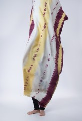 TRICOLORE SHAWL IN BORDEAUX, RIND & IVORY