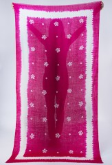 BANDANA SHAMINA IN HOT PINK & IVORY