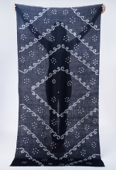 SCROLL SHAMINA IN DARK NAVY, IVORY & CHAY