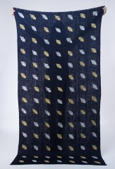 TINDOUF SHAWL IN DARK NAVY, YELLOWS & IVORIES
